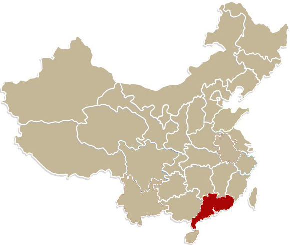 Chiny, prowincja Guangdong