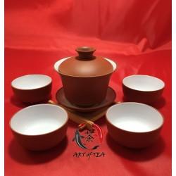 Czteroosobowy zestaw porcelanowy