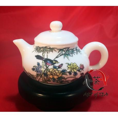 Porcelanowy czajniczek (bambus,ptaki)