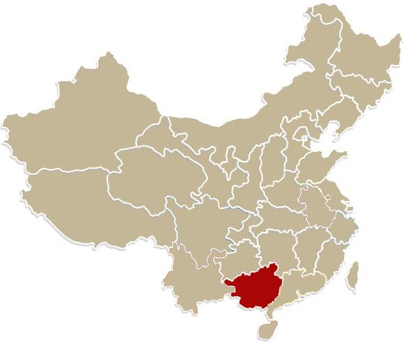 Chiny, Region Autonomiczny Kuangsi-Czuang