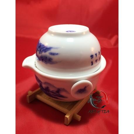 Jednoosobowy zestaw dla parzenia herbaty (krajobraz)
