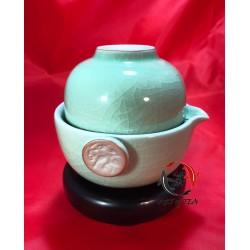 Jednoosobowy zestaw dla parzenia herbaty (Kuty lód)